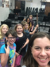 """Last day of teaching beginning clarinet students for the Bloomington """"Star Band"""" Program. June 2015"""