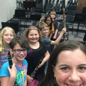 "Last day of teaching beginning clarinet students for the Bloomington ""Star Band"" Program. June 2015"