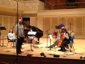 """Recording Miles Friday's """" chamber work. Spring 2015"""
