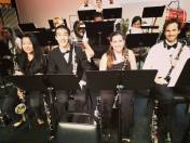 """PRISMA clarinet section after playing Holst's """"The Planets"""" June 2015"""