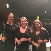 3 of the 4 members of the PRISMA clarinet section. June 2016