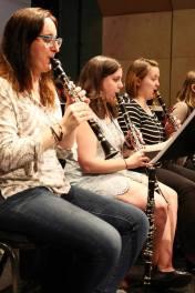 PRISMA clarinet section rehearsing Shostakovich Symphony No. 5. June 2016